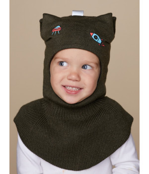 Лунтик шапка-шлем трикотажная