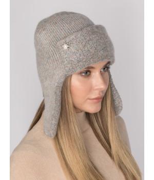Стокгольм шапка-ушанка трикотажная